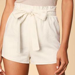 Jemima White Paper Bag Waist Shorts | Lulus (US)