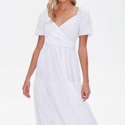 Seersucker Surplice Midi Dress | Forever 21 (US)