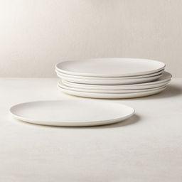 Crisp Matte White Dinner Plates Set of 8   CB2   CB2