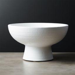 White Pedestal Bowl + Reviews   CB2   CB2
