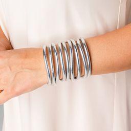 BuDha Girl All Weather Medium Bangles - Silver | BuddyLove