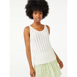 Scoop Women's Sweater Tank Top with Scallop Hem | Walmart (US)