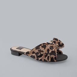 Leopard-Print Crinkle Slides   White House Black Market