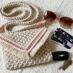 "Handmade Macrame Bag ""Cordelia"", Macrame Accessories, Fiber Art, Macrame Purse | Etsy (US)"