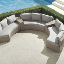 Pasadena II 5-piece Sofa Set in Dove Finish   Frontgate