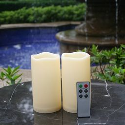 Waterproof Outdoor Flameless LED Candles - with Remote and Timer Realistic Flickering Battery Ope...   Walmart (US)