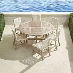 Isola 7-pc. Round Dining Set in Weathered Finish   Frontgate