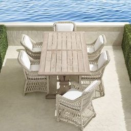 Hampton 7-pc. Rectangle Dining Set in Ivory Finish   Frontgate