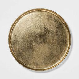 "17.6"" Round Aluminum Tray Gold - Threshold™ | Target"