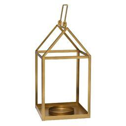 "7.5"" x 17.25"" Open Face Lantern Gold - Stratton Home Décor   Target"