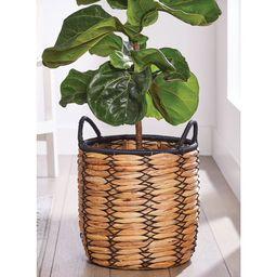 Better Homes & Gardens 15 Inch Round Woven Water Hyacinth Basket Planter   Walmart (US)
