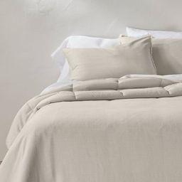 Heavyweight Linen Blend Comforter & Sham Set - Casaluna™   Target