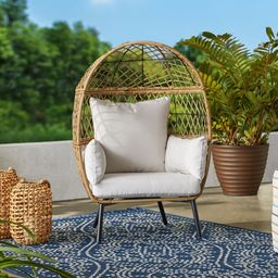 Better Homes & Gardens Ventura Stationary Outdoor Kid's Egg Chair   Walmart (US)