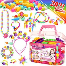 FunzBo Snap Pop Beads for Girls Toys - Kids Jewelry Making Kit Pop-Bead Art and Craft Kits DIY Br... | Amazon (US)
