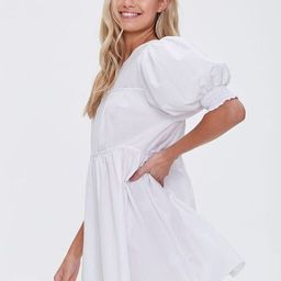 Puff-Sleeve Mini Dress | Forever 21 (US)