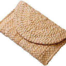 Freie Liebe Women's Straw Clutch Purse Summer Beach Bags Envelope Wallet Woven Handbags | Amazon (US)