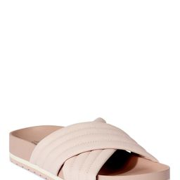 Time and Tru Women's Quilted Crossband Footbed Slide Sandals   Walmart (US)