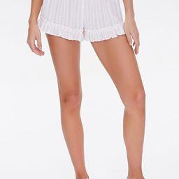 Ornate Ruffle-Trim Shorts | Forever 21 (US)