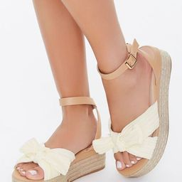 Knotted Bow Espadrille Wedges   Forever 21 (US)