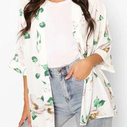 Floral Print Kimono | Boohoo.com (US & CA)