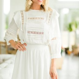 Need You More White Crochet Dress   The Mint Julep Boutique
