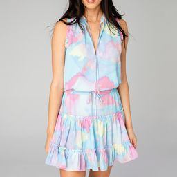 Sage Tie Waist Mini Dress - Groovy   BuddyLove