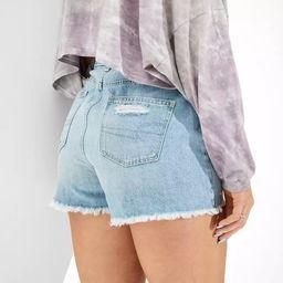 AE Curvy Denim Mom Shorts | American Eagle Outfitters (US & CA)