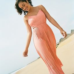 Pleated Side Cut-Out Maxi Dress   Express