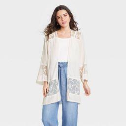 Women's Long Sleeve Lace Detail Jacket - Knox Rose™   Target