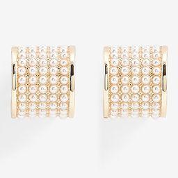 Mini Pearl Hoop Earrings   Express