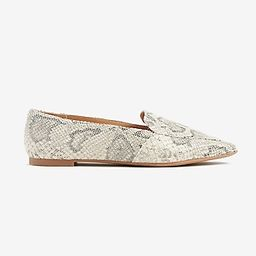 Snakeskin Textured Loafers | Express