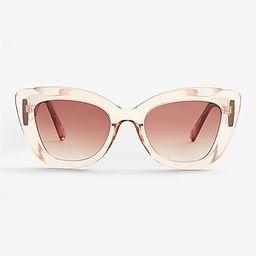 Clear Frame Cat Eye Sunglasses   Express