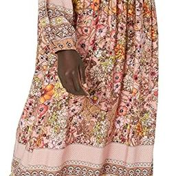 R.Vivimos Women's Long Sleeve Floral Print Retro V Neck Tassel Bohemian Midi Dresses   Amazon (US)