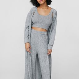 Crop Top and Pants 3-Pc Loungewear Set | NastyGal
