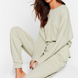 Recycled Ribbed Sweatshirt and Sweatpants Set | NastyGal