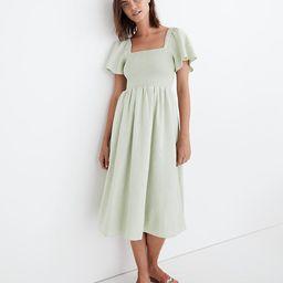 Linen-Blend Lucie Smocked Midi Dress | Madewell
