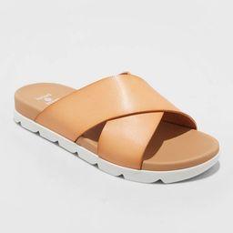 Women's Mary Crossband Slide Sandals - Shade & Shore™ Tan | Target