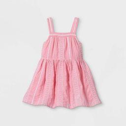 Toddler Girls' Eyelet Tank Dress - Cat & Jack™ Pink | Target