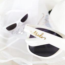 Bride Sunglasses - Bachelorette Sunglasses - White Bride Sunglasses - Bridal Shower Gift for Brid...   Etsy (US)