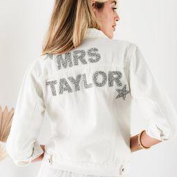 Personalized Wedding Jacket Bride Denim Jacket Bride Jean Jacket Personalized Jacket Mrs Jacket B... | Etsy (US)
