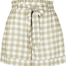 Belted Gingham Paperbag Waist Shorts | Nordstrom