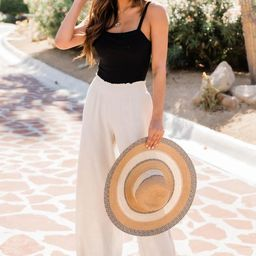 Stolen Kiss Taupe Beach Pants | The Pink Lily Boutique