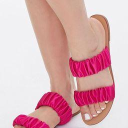 Satin-Strap Flat Sandals | Forever 21 (US)