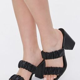 Ruched Block Heels | Forever 21 (US)