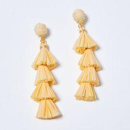 Raffia Tiered Statement Earrings | Ann Taylor (US)