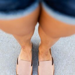 Denali Tan Slit Detail Sandals | The Pink Lily Boutique