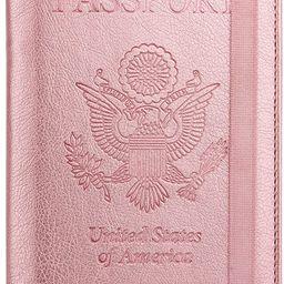 WALNEW RFID Passport Holder Cover Traveling Passport Case | Amazon (US)
