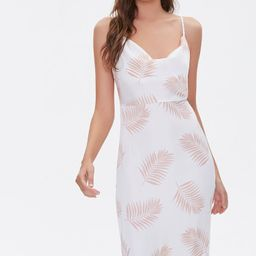 Tropical Leaf Print Dress | Forever 21 (US)
