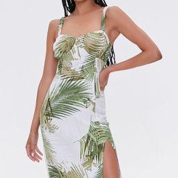 Leaf Print Sweetheart Dress | Forever 21 (US)
