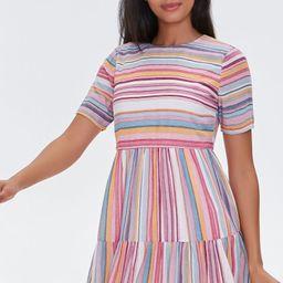 Striped Flounce-Hem Mini Dress | Forever 21 (US)